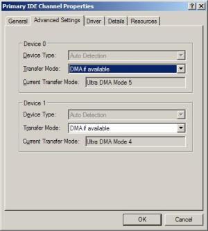 udma5.Ultra DMA Mode 5 - Primary IDE Channel Properties