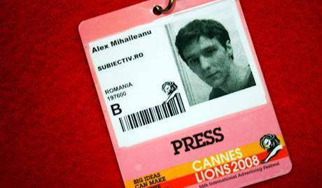 Cannes Lions 2008 Press Pass